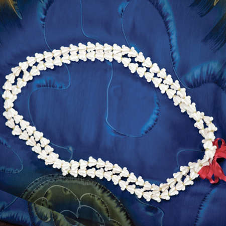 White Crown Flower Lei